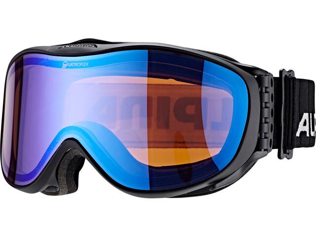 Alpina Challenge 2.0 Quattroflex Mirror S2 Gafas, blue black matt